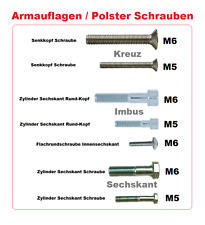 Rollstuhl Armlehnen Schrauben Armauflage Polsterschraube 7 Varianten Gewindesteg
