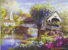 .PUZZLE..JIGSAW...BOEHME...Picturesque Covered Bridge...500pc.Sealed.