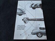 1956 Porsche 'Years' Sales Brochure 356A Speedster Spyder Carrera 1600 S Catalog