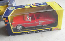 Motor Max 1/24 Scale Diecast Red 1958 Chevrolet Impala Convertible Car  NIP