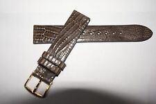 CYMA  16 MM SHORT TAUPE NON-PADDED LIZARD WATCH STRAP