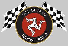 ISLE OF MAN TOURIST TROPHY ILE DE MAN TT AUTOCOLLANT STICKER 12cmX8cm IA076