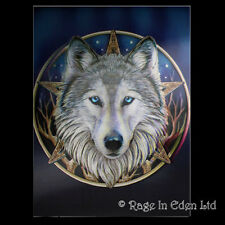 *THE WILD ONE* Goth Fantasy Wolf Art 3D Print By Lisa Parker (39x29cm)
