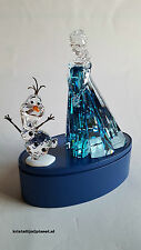 Swarovski Crystal, Disney Elsa, Art No 5135878.Olaf Art No 5135880 Incl Display.