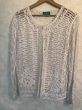 Paramour Women Mesh-Lace Cardigan/ White/ Size : Fits 12-14