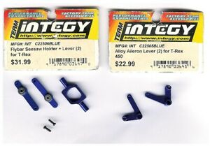 INTEGY Hop-UP Parts ALLOY AILERON LEVER + Seesaw T-REX 450 RC HELICOPTER NEW