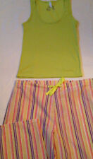 Pajamas womens size L 12-14 new tank 60% cotton 40% polyester pants 55% cotton