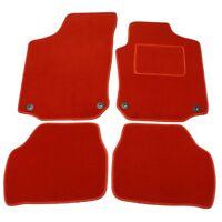 SKODA FABIA 2007 ONWARDS TAILORED RED CAR MATS