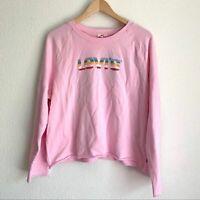 NWT Levi's scoop neck raw hem crop sweatshirt
