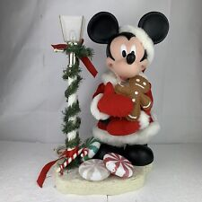 """New listing Santa'S Best 1996 Animated 21"""" Christmas Mickey Mouse Unlimited W/ Light Pole"""