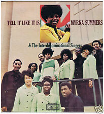 LP MYRNA SUMMERS TELL IT LIKE IT IS (U.S. 1970)