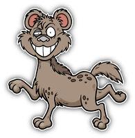 Funny Hyena Cartoon Car Bumper Sticker Decal 5'' x 5''