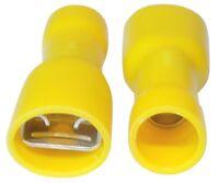 10x Cosses électriques femelles plates 6.3mm 0.8mm 4-6mm2 isolée jaune