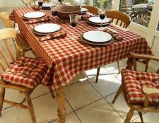 "59x82"" FARMHOUSE CHECK RECTANGLE TABLECLOTH RED/BEIGE"