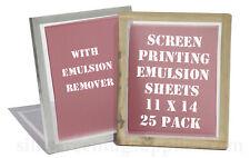 Emulsion Sheets - 25 Pk & Remover Conc. 11x14