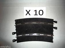 10  Curvas Superexteriores Scalextric  analógicas , negras Nuevas  1/32 News