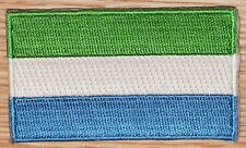 SIERRA LEONE Flag Embroidered PATCH Badge