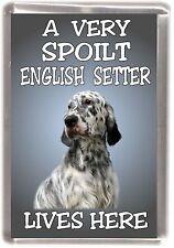 "English Setter Fridge Magnet No.1.  ""A VERY SPOILT .... LIVES HERE"" by Starprint"