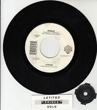 """PRINCE  Letitgo & Solo  7"""" vinyl 45 rpm record + juke box title strip RARE!"""