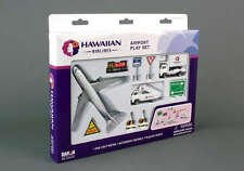 Diecast Hawaiian Airlines Airplane Boeing 737 12 pc Set Bus Catering Truck New