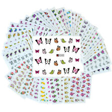 50 Sheets Nail Art Flower Stickers DIY Water Transfer Nail Decals Manucire Decor