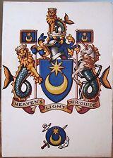 Uk Postcard City Arms Portsmouth Hampshire England Shield Crest Ja Dixon 1970s