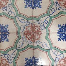 Ceramica Vietri Piastrelle 20x20 Decorate a Mano in Cotto Artigianale 1 mq