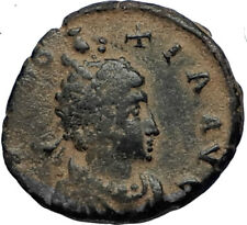 EUDOXIA Arcadius Wife 400AD Authentic Ancient Roman Coin GOD