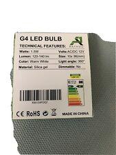 Rayhoo 10pcs G4 LED Bulb Bi-Pin Base Light Lamps 1.5 Watt AC DC 12V/10-20V Eq...