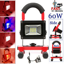 Rechargeable 60W LED Flood Light Site Work Emergency Lamp Glare Searchlight UK