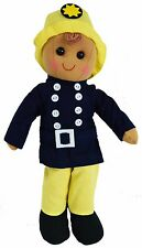 Fireman Rag Doll Powell Craft Cool and Fun Boy's Playtime Gift Large 40cm