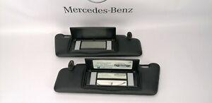 Mercedes Benz  W124 W201 Sun Visors Visor Lighted  Left And Right Black