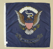 8th New York Cavalry Historical Indoor Outdoor Dyed Nylon Flag Grommets 3' X 3'