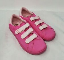 UGG youth girls shoes hook and loop sneakers canvas pink size 4