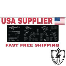 Gun Cleaning Mat AR15, AR10, M4, Gunsmiths Full Schematic, Parts List