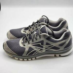 Reebok Mens Sublite Duo Running Shoes Gray Suede J96057 Lace Up Low Top Mesh 10