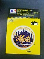 Vintage 80s New York Mets Fleer Sticker baseball card