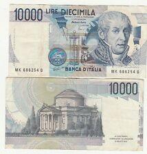 Italia 10000  lire 1997 1998 Volta pick 112e  BB Good