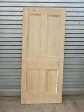 Reclaimed Victorian 4 Panel Pine Door Wooden Internal  809