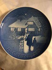 "1973 Royal Copenhagen B & G Country Christmas Collector Plate Made in Denmark 7"""