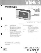 Sony Original Service Manual für WM-6 / 16