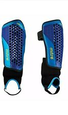 Mitre Aircell Carbon Football Shinguard Shin pad w/ Ankle protector - Medium (M)
