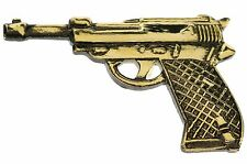 Miniature Replica Military Nazi Walther P38 Pistol Hat or Lapel Pin H14780D67