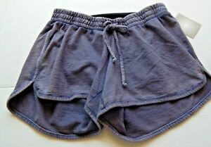 A Glow Maternity Women's Navy Lux Lounge Shorts Size S