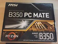 MSI B350 PC MATE AMD Ryzen Socket AM4 ATX Desktop PC Gaming Motherboard