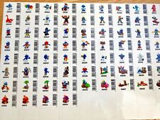 Hard to Find Smurf  Sticker Sheets for collectors European Issue Schlumpfe Puffi
