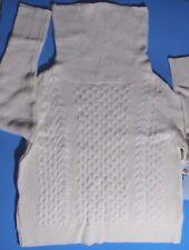 Women's White Cream Cowl-neck Cable-knit Sweater  L