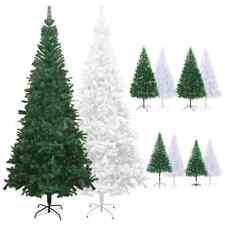 vidaXL Artificial Christmas Tree Holiday Xmas Decor Green/White Multi Sizes