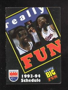 Sacramento Kings--1993-94 Pocket Schedule--Budweiser