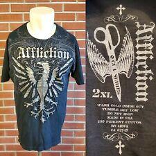 Affliction Cut Series Short Sleeve Crewneck Mens 2XL XXL T-Shirt EUC Made in USA